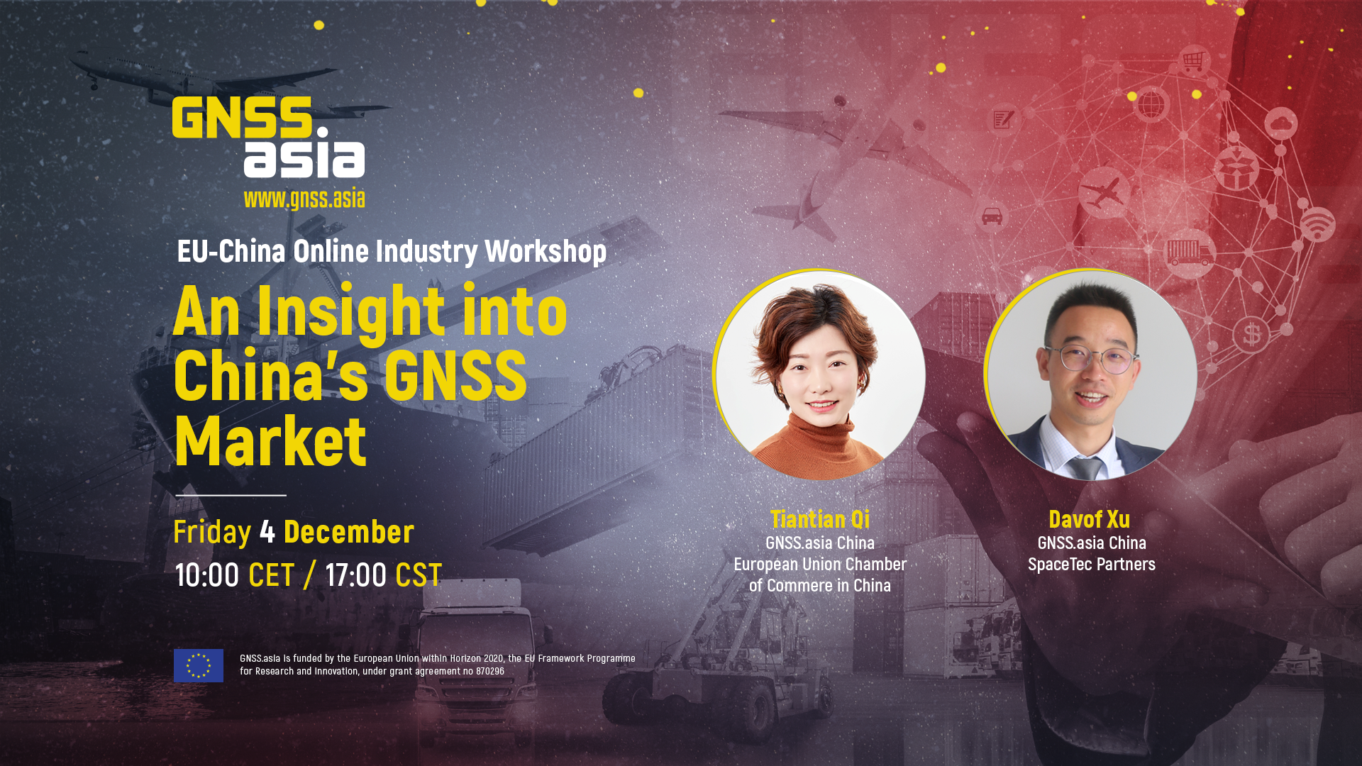 EU-China Online Industry Workshop – An Insight into China's GNSS Market