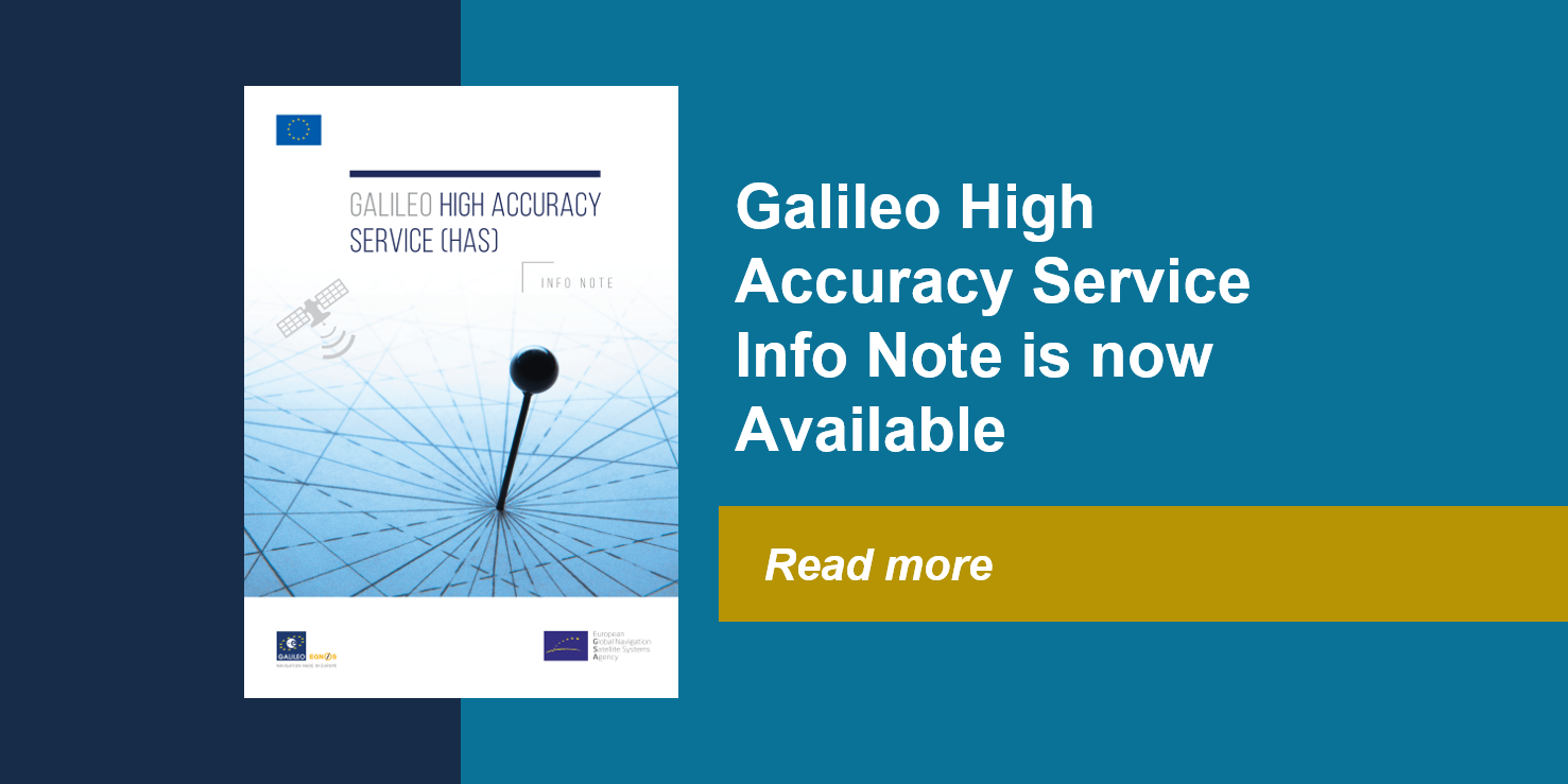 Galileo High Accuracy Service Information Note is now available